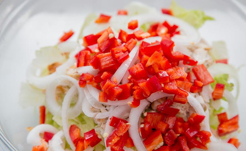 салат для похудения пошагово