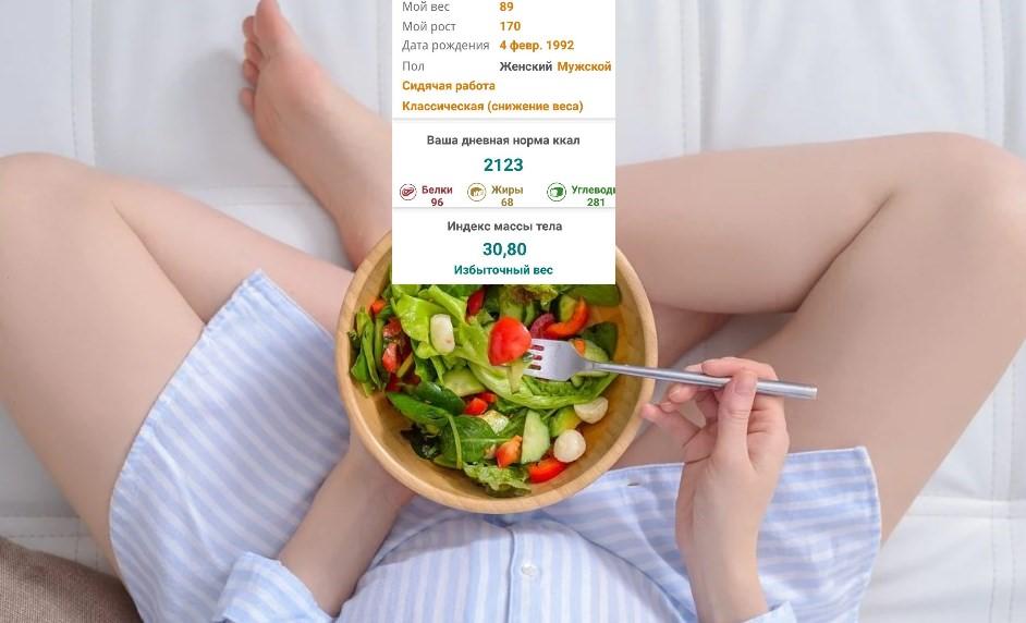 подсчет калорий польза и вред